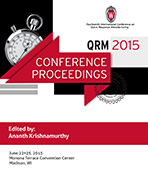 QRM 2015 Conference Proceedings edited by Ananth Krishnamurthy